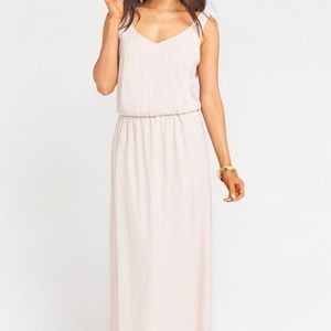 Kendall Maxi Dress in Show me the Ring Crisp